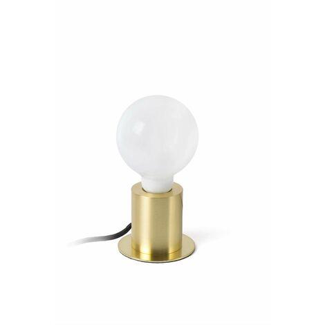 Ten 1-light satin gold table lamp