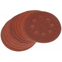 Ten 125mm 80 Grit Hook and Loop Sanding Discs (63368)