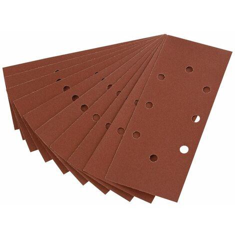 Ten 232 x 92mm 120 Grit Aluminium Oxide Sanding Sheets for 63128 Random Orbit Sander (63633)