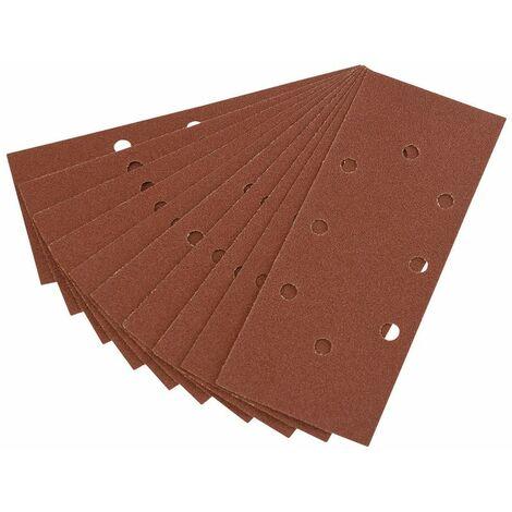 Ten 232 x 92mm 80 Grit Aluminium Oxide Sanding Sheets for 63128 Random Orbit Sander (63631)