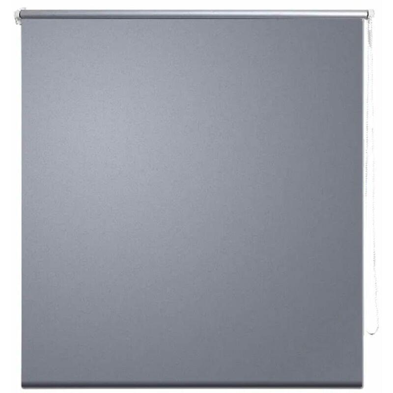 vidaXL Tenda a Rullo Oscurante 80 x 230 cm Grigio Grigio