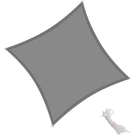 Tenda a Vela Quadrata 2x2m, Traspirabile HDPE e Resistente agli Agenti Atmosferici, Protezione dai Raggi UV per Giardino, Balcone e Terrazza