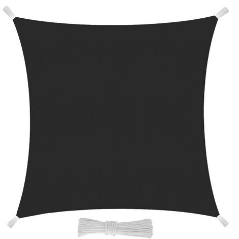 3.6x3.6x3.6 m Protezione dai Raggi UV Tessuto in Polietilene Resistente e Impermeabile EGLEMTEK Tenda Parasole Triangolare a Vela Telo da Sole da Esterno Colore Grigio