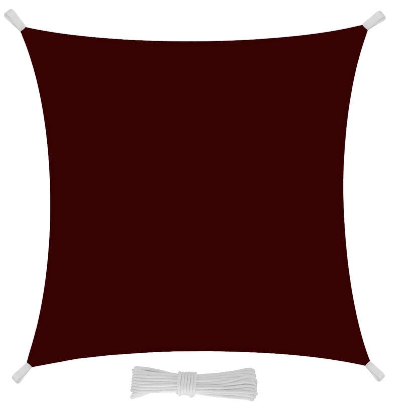 Tessuto in Polietilene Resistente 3x3 m Protezione dai Raggi UV Colore Grigio EGLEMTEK Tenda Parasole Quadrata a Vela Telo da Sole da Esterno