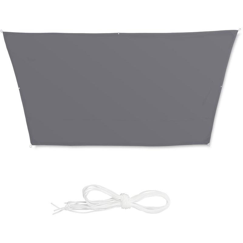 ERPENG Vela Ombreggiante 2x2m 95/% UV Protezione Impermeabile Tenda Parasole con Corda Libera Corde di Fissaggio per Giardino Campeggio Beige Party terrazza Patio