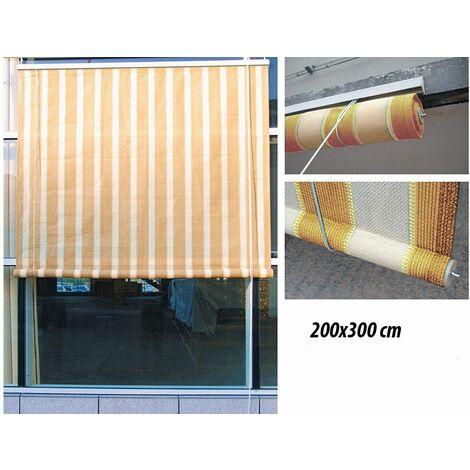 Tenda da Sole 200x300 a Rullo Avvolgibile per Esterno Balcone Telo Ombreggiante