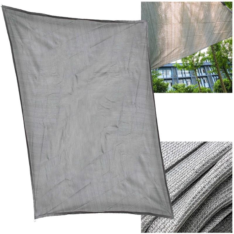 Tende Da Sole Angolari.Tenda Da Sole A Vela Ombreggiante In Hdpe Parasole 2x3m Rettangolare Grigio