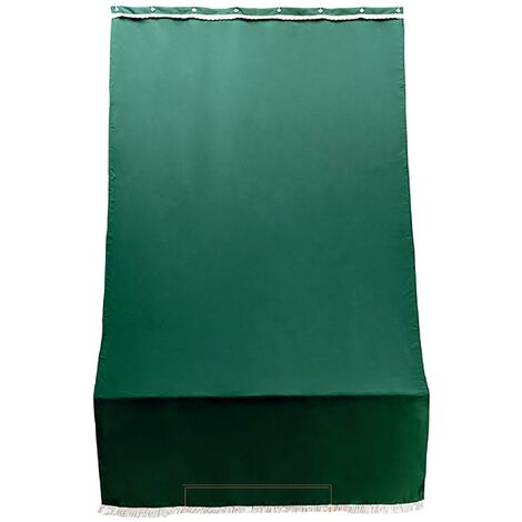 ranieri Tenda da Sole Barra Quadra 200x300 cm Tessuto in Poliestere Riga Verde