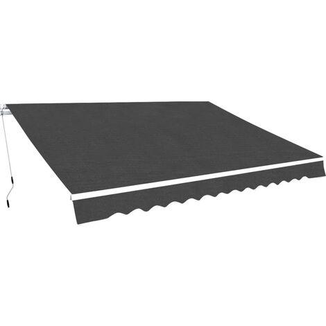 Manovella Elettrica Per Tende Da Sole.Tenda Da Sole Pieghevole Manuale 450 Cm Antracite