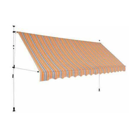 Altezza Regolabile 2-3 m SONGMICS Tenda da Sole di 150 x 130 cm Grigio GSA153G con Manovella Tenda Retrattile per Balcone e Terrazzo