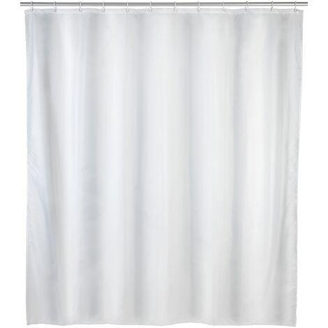 Tenda doccia antimuffa monocolore bianco WENKO