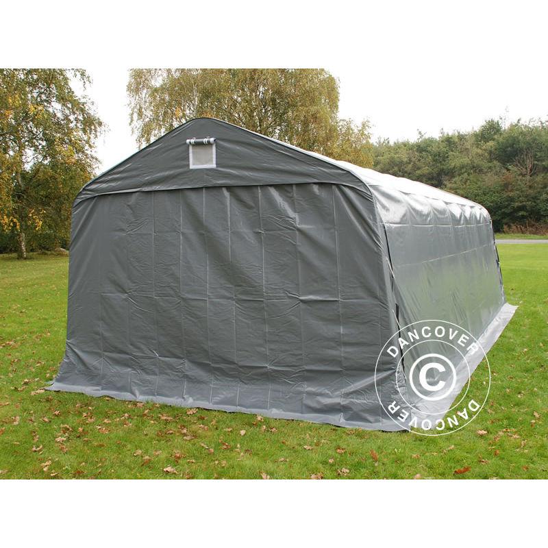 Tenda garage PRO 3,6x7,2x2,68m PVC, Grigio