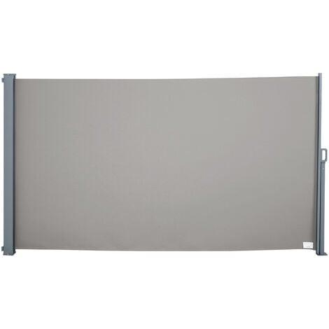 Tenda Laterale Frangivista Da Giardino 3x1,60m In Alluminio E Tessuto Miozzi Grigio