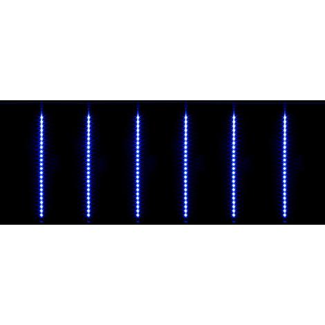 Tende Luminose Da Esterno.Tenda Luminosa Effetto Pioggia 3x0 5m 8 Tubi Luminosi Da Esterno 384 Led Blu