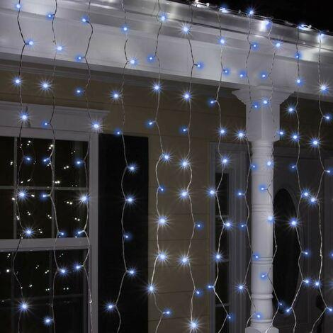 Luci Natale Led Esterno.Tenda Luminosa Luci Natale Esterno Led Energia Solare Effetto Neve 100 Led
