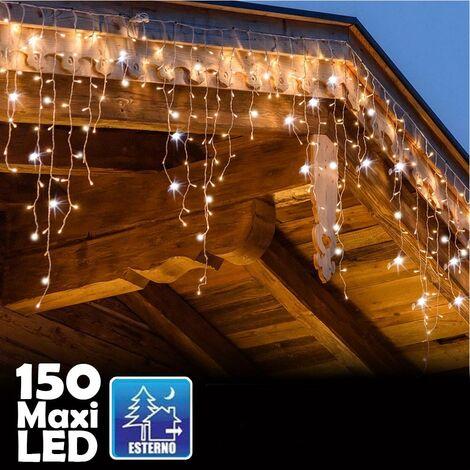 LED Tenda Luminosa,VIFLYKOO Star Fata Luci Catena Luminosa Luci Stringa Bianco Caldo 8 Modalit/à Impermeabili IP44 Decorative per Esterni,Natale,Party Classe di efficienza energetica A++