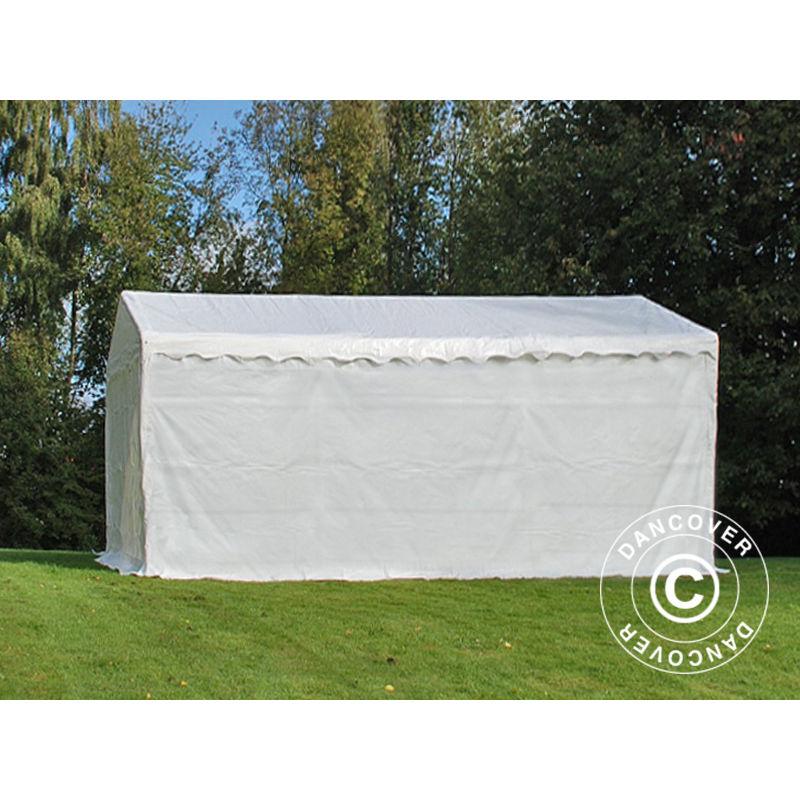 Tenda Magazzino Tenda garage Basic 2 in 1, 4x6m PE, Bianco