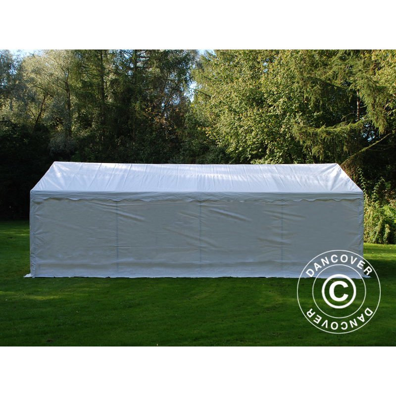 Tenda Magazzino Tenda garage Basic 2 in 1, 5x8m PE, Bianco