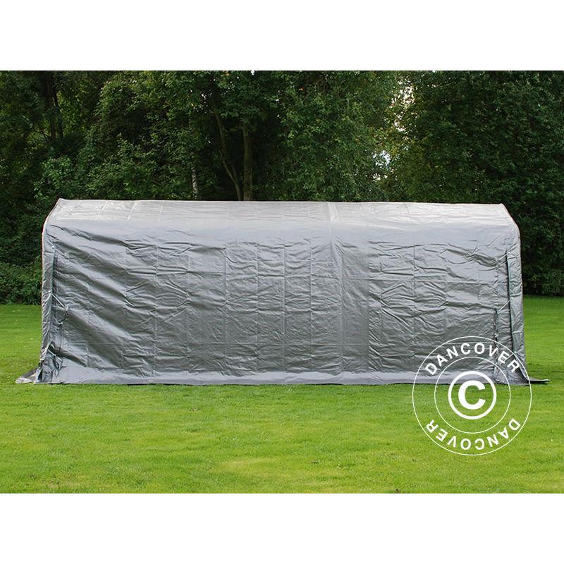 Tenda magazzino Tenda garage PRO 2,4x6x2,34m PE, Grigio