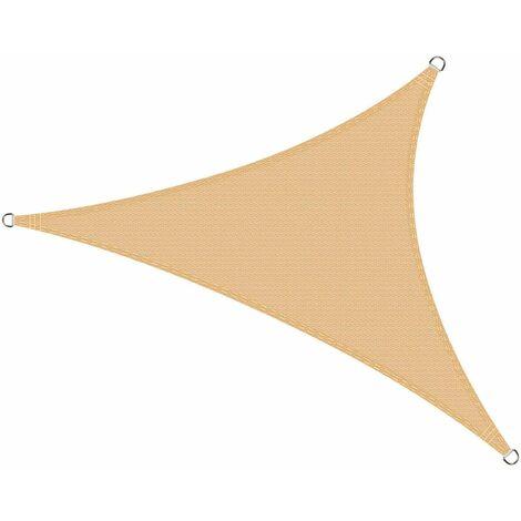 impermeabile e resistente al vento con corde colore beige 3x3x3 m Tendone triangolare
