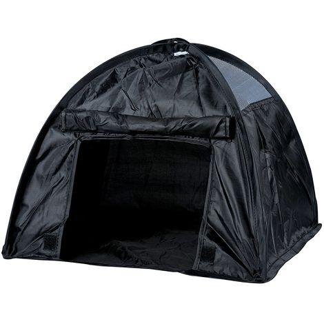 Tenda per Animali da Campeggio Cane Gatto Cani Gatti Da Viaggio 36x36x36cm Nero