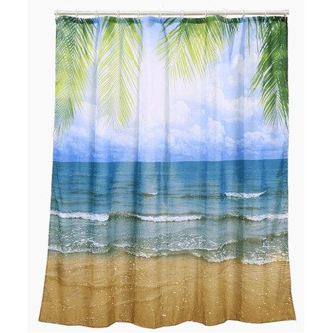 Tenda Vasca Da Bagno.Tenda Per Doccia Beach Vasca Da Bagno Tendina Mare Spiaggia Con Ganci 180x180cm