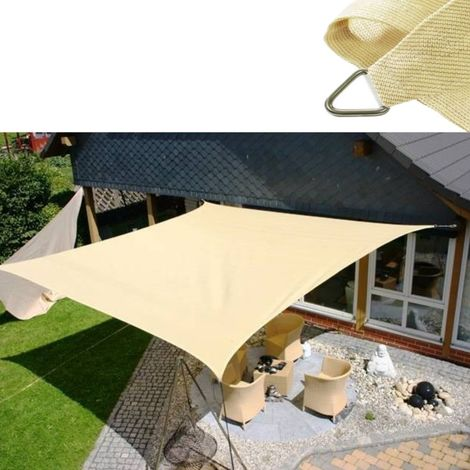 Tenda a vela triangolare mt 3,6 beige da esterno rete ombreggiante giardino