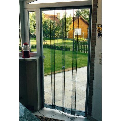 Tenda ZANZARIERA A PANNELLI VERTICALI - cm 120x240H zanzariere porta finestra