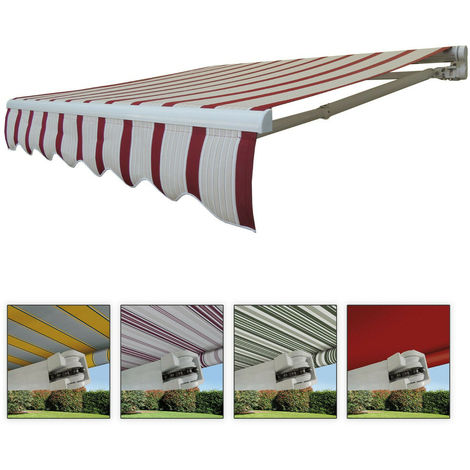 Tende Da Sole Per Balconi.Tende Da Sole A Bracci Barra Quadra Con Catena Balcone Avvolgibile Alluminio