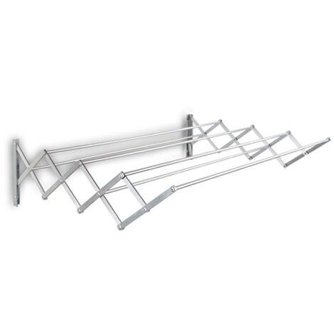 Tendedero de pared 6 varillas aluminio - 100X58CM