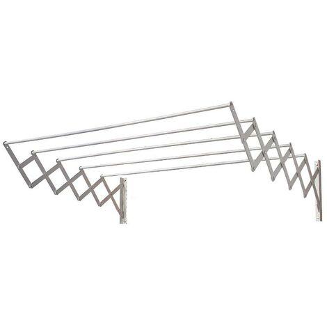 Tendedero extensible pared aluminio 1,40 metros