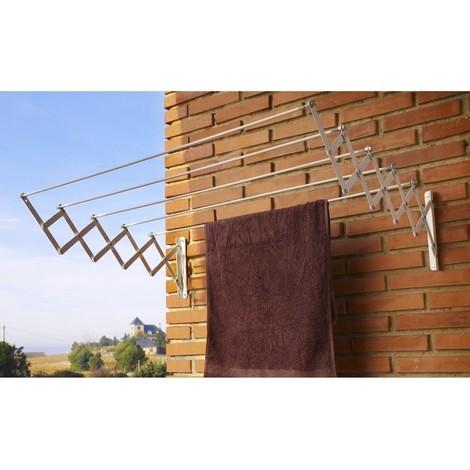 Tendedero pared 5 b. 160cm ext ac.ep. bl acordeon cuncial
