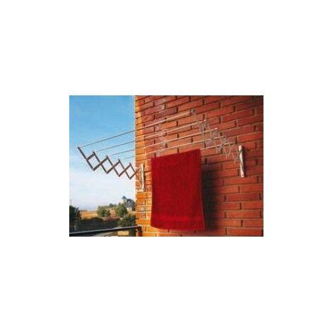 Tendedero pared 5 b. 180cm ext ac.ep. bl acordeon cuncial