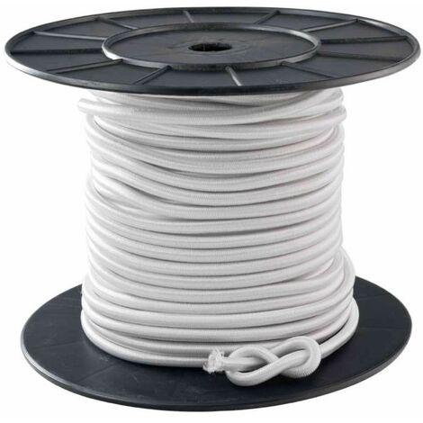 Tendeur blanc 10 mm x 40 mètres sur bobine - Blanc