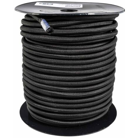 Tendeur noir 12mm x 30m sur bobine - Noir