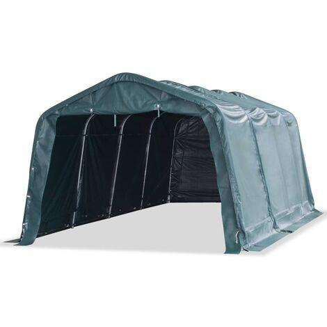 Tendone Bestiame Rimovibile PVC 550 g/m² 3,3x6,4m Verde Scuro