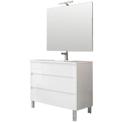 TENERIFE Conjunto mueble de baño Blanco 100 cm