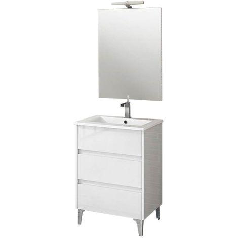 TENERIFE Conjunto mueble de baño Blanco 60 cm
