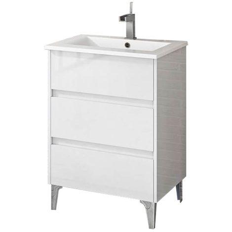 TENERIFE Mueble de baño Blanco 60 cm