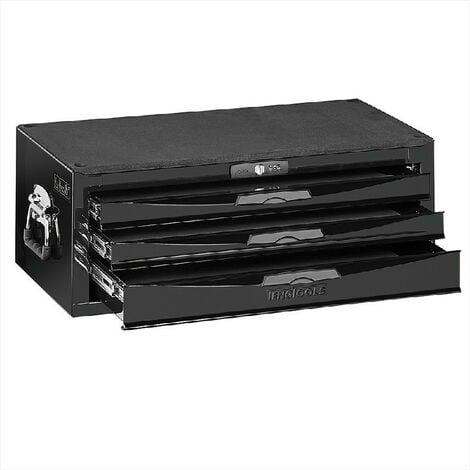 Teng Tools TC803NBK Black 3 Drawer Middle Tool Box With Ball Bearing Slides