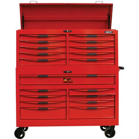 """Teng Tools TCW819STACK 53"""" Wide 19 Drawer 8 Series Monster Stack System"""