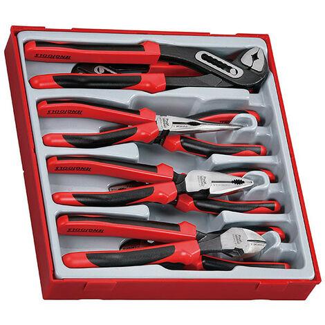Teng Tools TTD441-T 8 Piece TPR Grip Plier Set