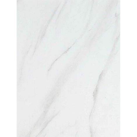 Tensa Panel PVC White Marble Cladding Wall 1000mm x 2400mm x 10mm (Pack Of 1)