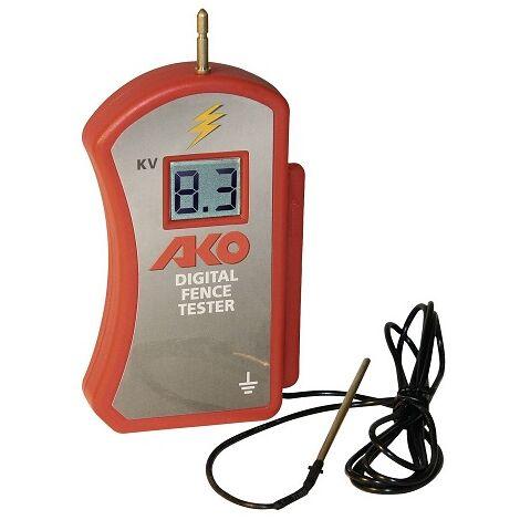 Tensiómetro AKO Comprobador Digital de Corriente para Cercados con Pila de 9V Incluída. Comprobador hasta 10000V