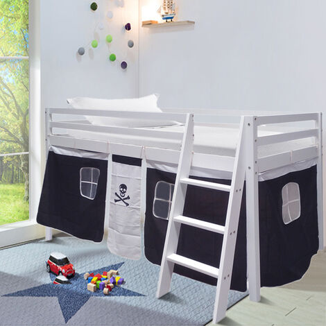 Pirate Tent For Mid Sleeper Bed Girls Bedroom Toys Games Storage