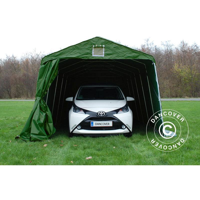 Tente Abri Voiture Garage PRO 3,3x6x2,4m PVC, Vert