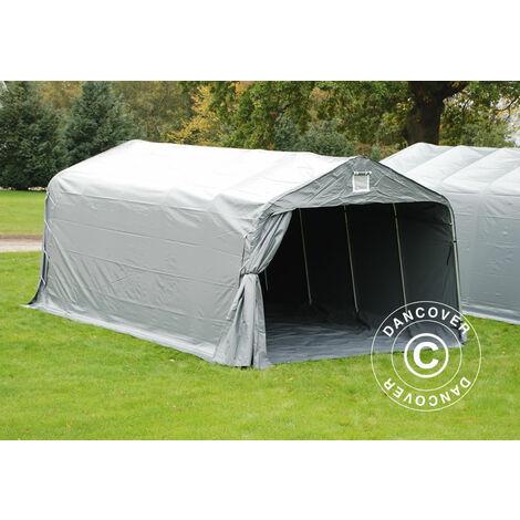 Tente abri Voiture garage PRO 3,6x6x2,7m PVC avec couvre-sol, Gris