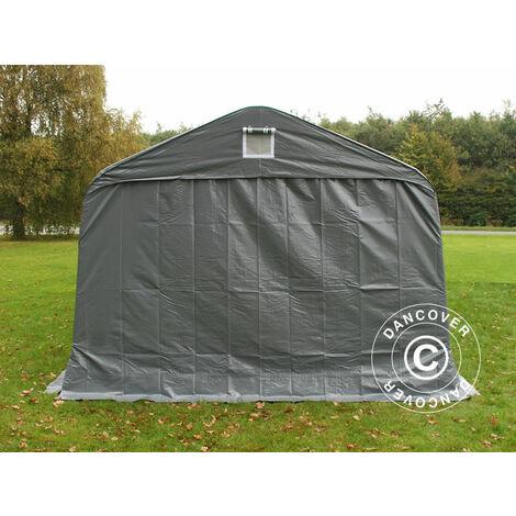 Tente abri Voiture garage PRO 3,6x8,4x2,7m PVC avec couvre-sol, Gris
