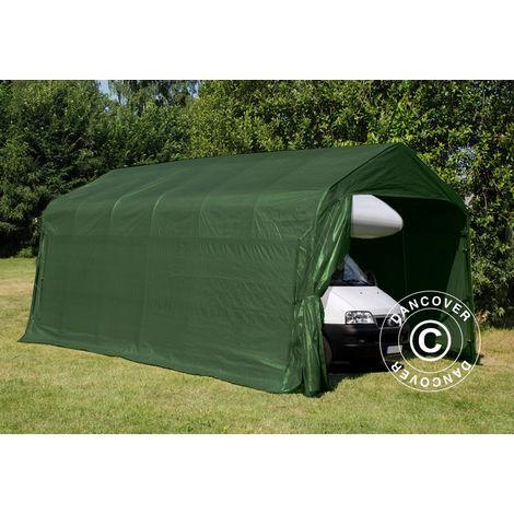 Tente Abri Voiture Garage PRO 3,77x7,3x3,18m, PVC, Vert