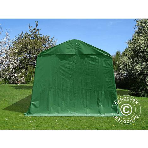Tente Abri Voiture Garage PRO 3,77x9,7x3,18m PVC, Vert